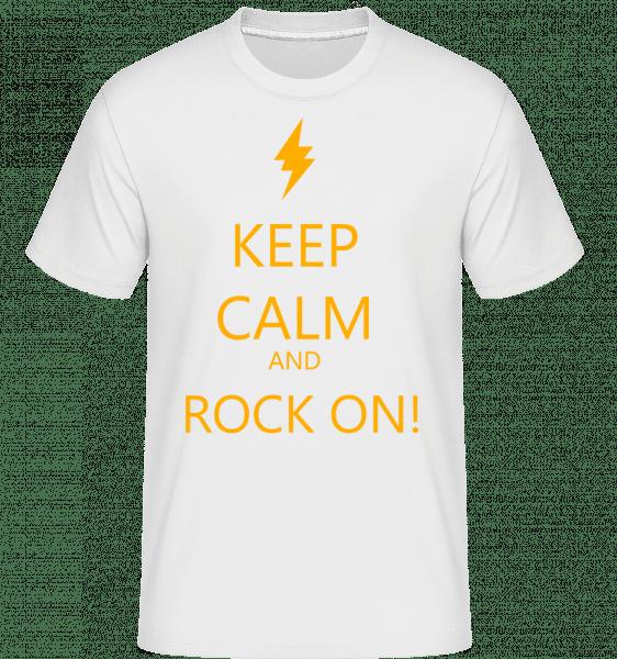 Keep Calm And Rock On! -  Shirtinator Men's T-Shirt - White - Vorn