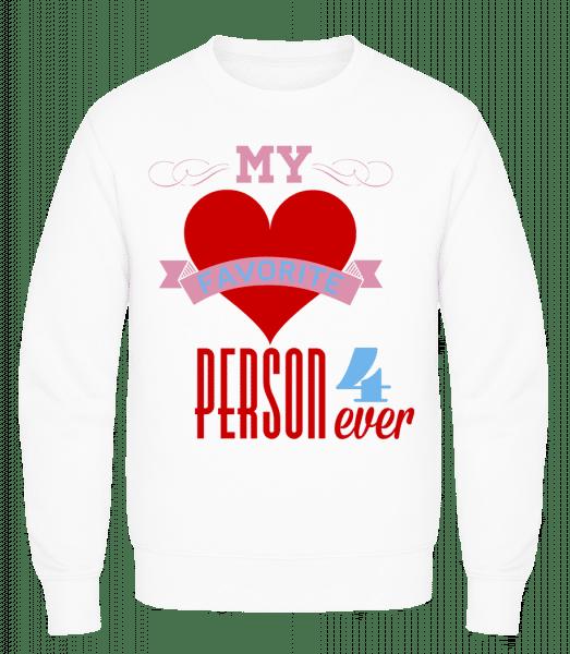 My Favorite Person 4Ever - Men's Sweatshirt AWDis - White - Vorn