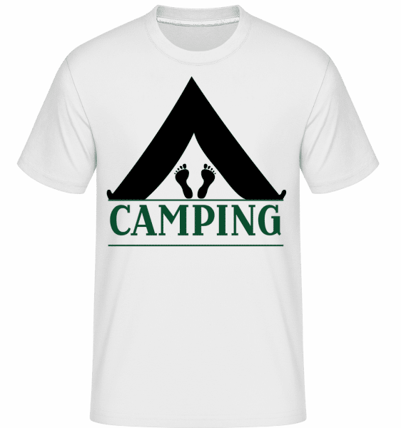 Camping Logo Black -  Shirtinator Men's T-Shirt - White - Vorn