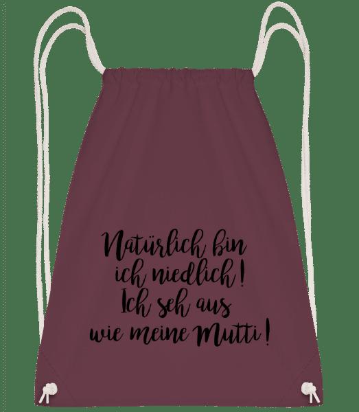 Natürlich Bin Ich Niedlich! - Turnbeutel - Bordeaux - Vorn