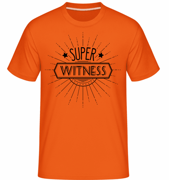 Super Witness -  Shirtinator Men's T-Shirt - Orange - Vorn