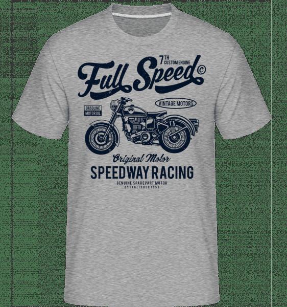 Full Speed -  T-Shirt Shirtinator homme - Gris chiné - Vorn
