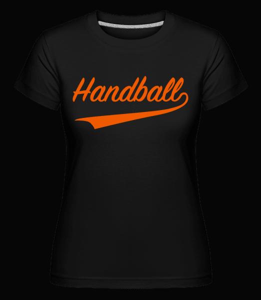 Handball Schriftzug - Shirtinator Frauen T-Shirt - Schwarz - Vorn