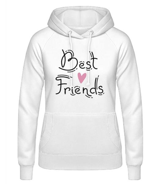 Best Friends - Women's Hoodie - White - Front