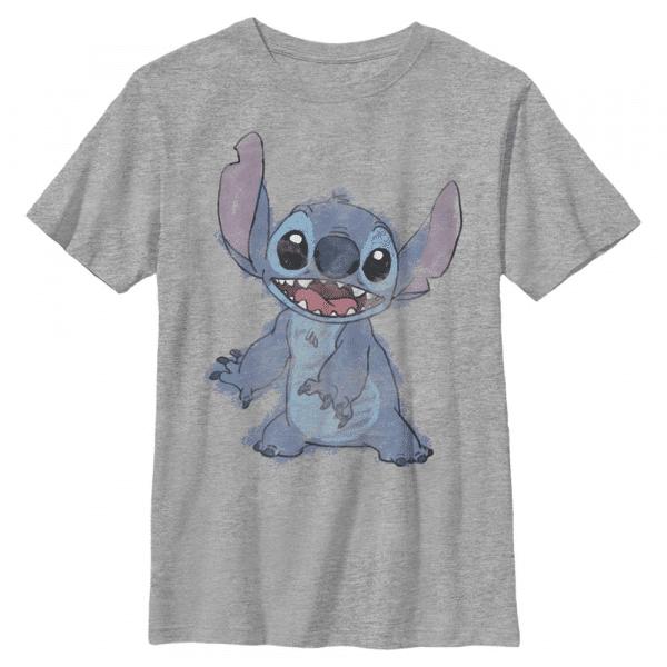 Sketchy Stitch - Disney Lilo & Stitch - Kids T-Shirt - Heather grey - Front