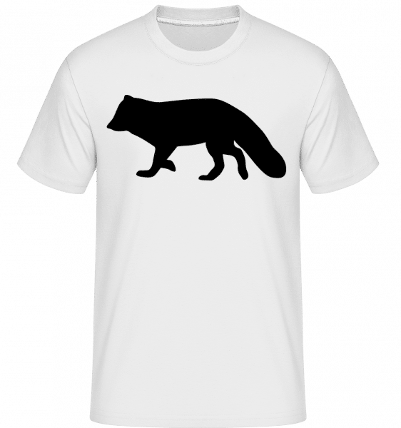 Silhouette Racoon -  Shirtinator Men's T-Shirt - White - Vorn