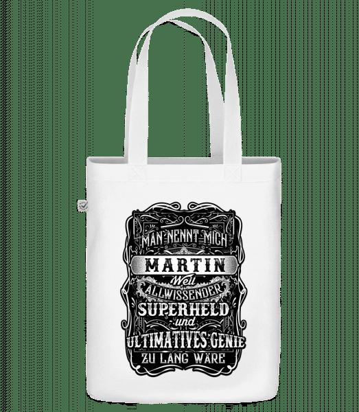Man Nennt Mich Martin - Bio Tasche - Weiß - Vorn