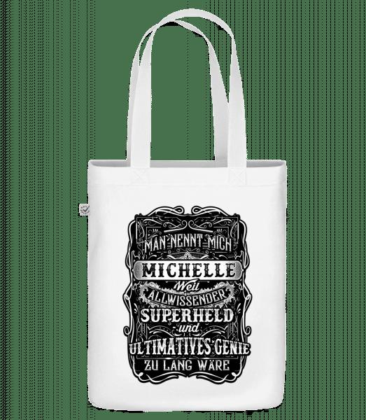 Man Nennt Mich Michelle - Bio Tasche - Weiß - Vorn