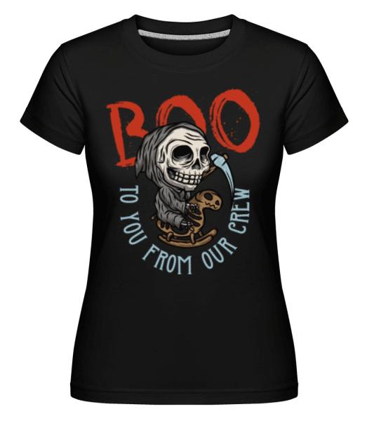 Boo -  Shirtinator Women's T-Shirt - Black - Front