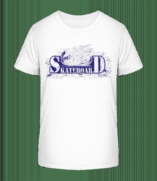 Skateboard Logo - Kid's Premium Bio T-Shirt - White - Vorn