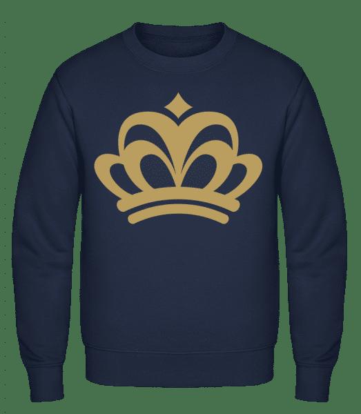 Crown Sign - Classic Set-In Sweatshirt - Navy - Vorn