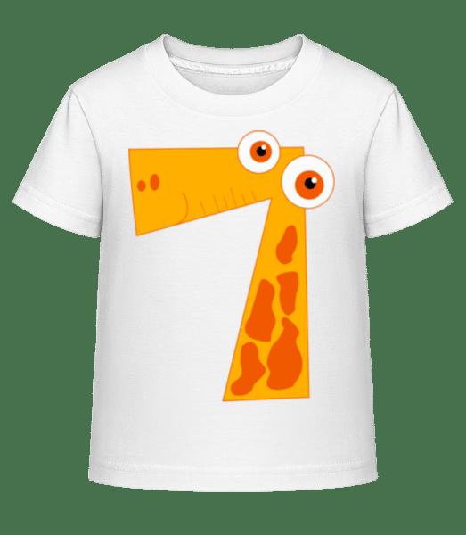 Giraffes Seven - Kid's Shirtinator T-Shirt - White - Front