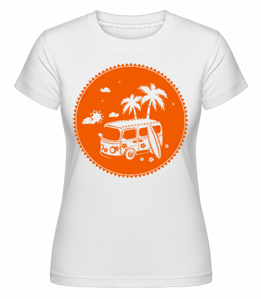 Holiday Icon Orange -  Shirtinator Women's T-Shirt - White - Vorn