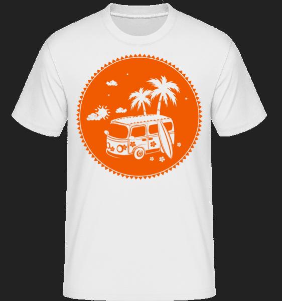 Holiday Icon Orange -  Shirtinator Men's T-Shirt - White - Vorn