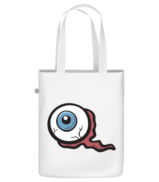 "Nasty Eye - Organic ""Earth Positive"" tote bag - White - Vorn"