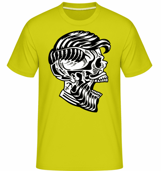 Hipster Skull -  Shirtinator Men's T-Shirt - Lime - Vorn