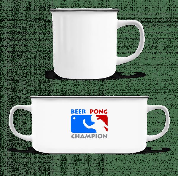 Beer Pong Champion - Enamel-cup - White - Vorn
