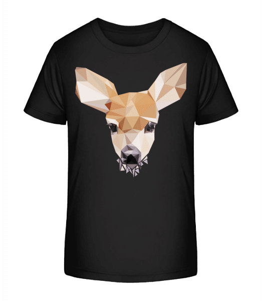 Polygon Deer - Kid's Premium Bio T-Shirt - Black - Vorn