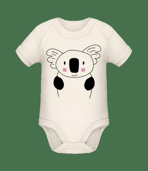 Cute Koala - Bio body pre deti - Krémová - Predné
