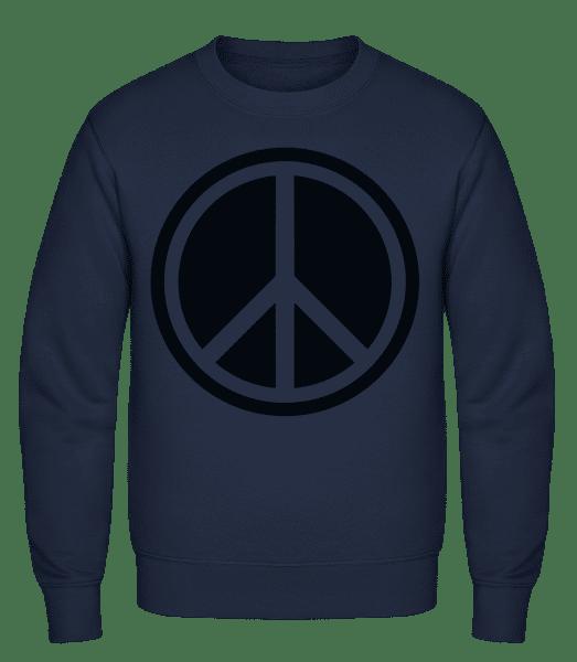 Peace Symbol - Classic Set-In Sweatshirt - Navy - Vorn