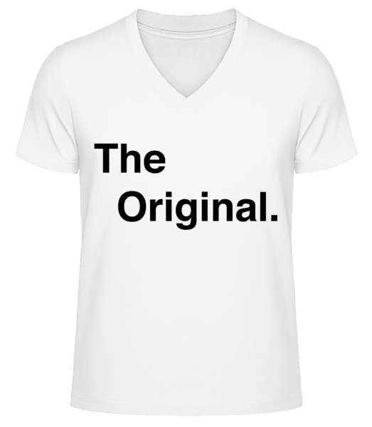 The Original - Men's V-Neck Organic T-Shirt - White - Front