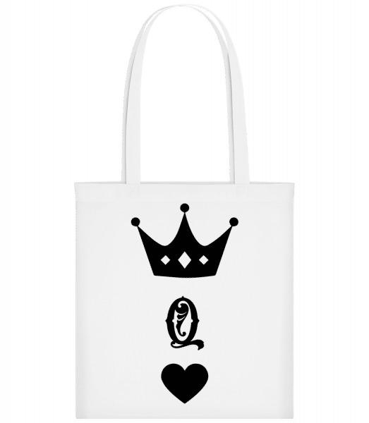 Queen Crown - Carrier Bag - White - Vorn
