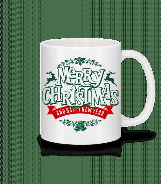 Merry Christmas Label - Mug - White - Vorn