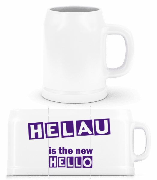 Helau Is The New Hello - Beer Mug - White - Vorn