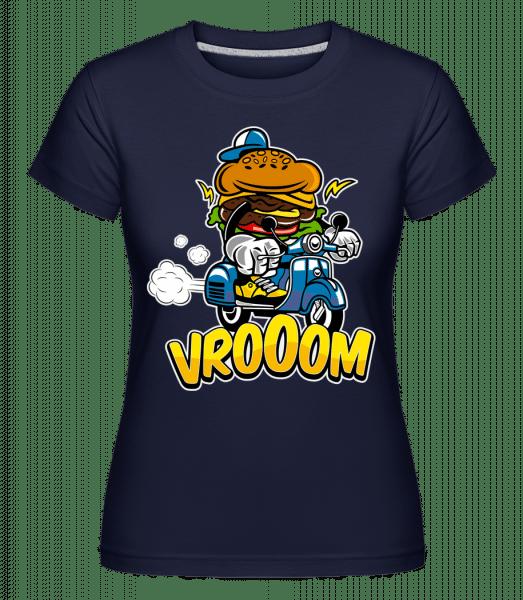 Burger Scooter - Shirtinator Frauen T-Shirt - Marine - Vorn
