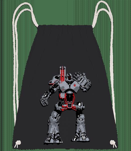 Fighting Robots - Drawstring Backpack - Black - Vorn