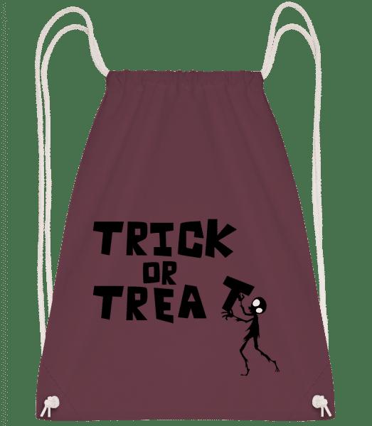 Trick Or Treat - Drawstring Backpack - Bordeaux - Vorn