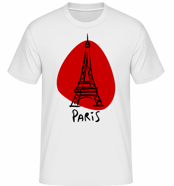 Paris Sign -  Shirtinator Men's T-Shirt - White - Vorn
