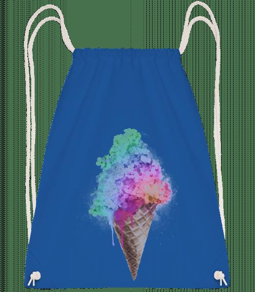 Rainbow Ice Cream - Drawstring Backpack - Royal blue - Vorn
