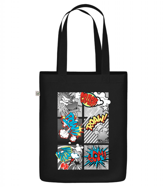 "Cartoon Goblins - Organic ""Earth Positive"" tote bag - Black - Front"