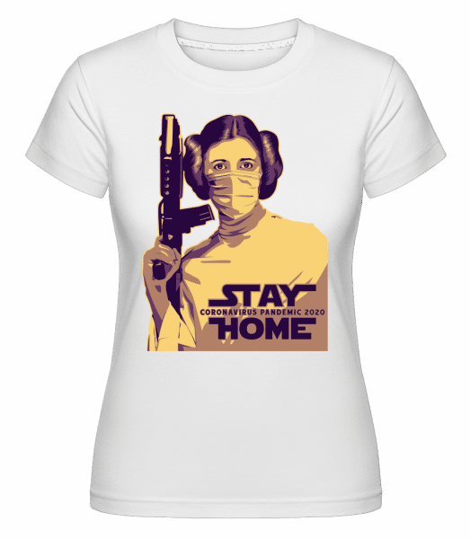 Stay Home Laila -  Shirtinator Women's T-Shirt - White - Vorn
