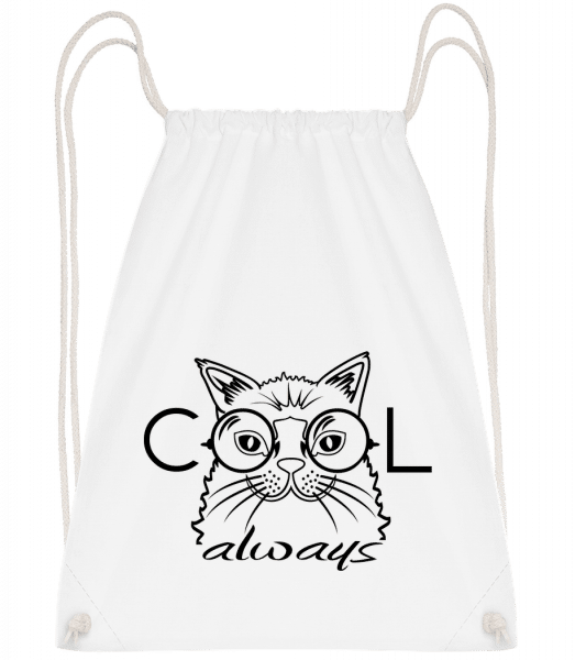 Cool Cat Always - Turnbeutel - Weiß - Vorn
