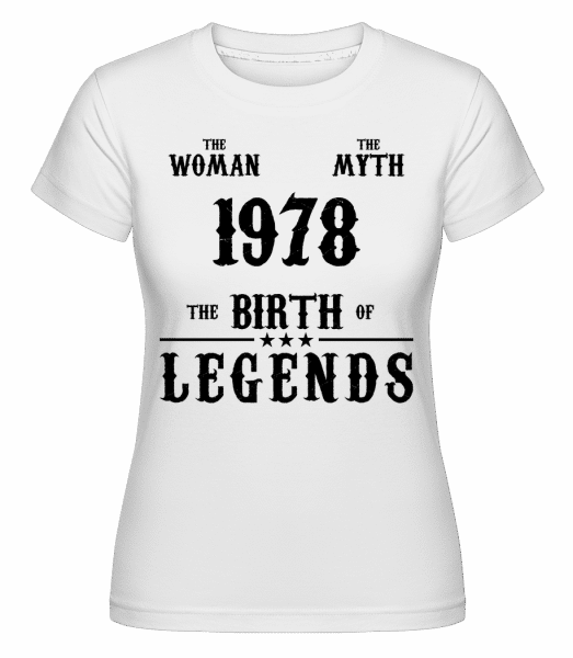 The Myth Woman 1968 -  Shirtinator Women's T-Shirt - White - Vorn