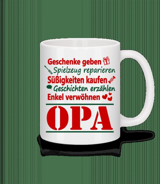 Der Perfekte Opa - Tasse - Weiß - Vorn