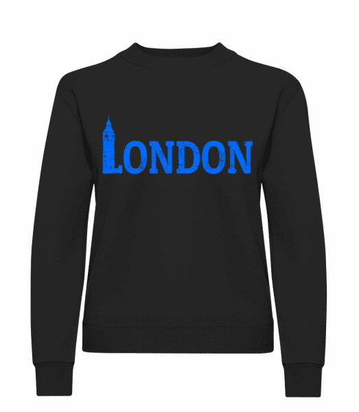 London UK - Classic Ladies' Set-In Sweatshirt - Black - Vorn