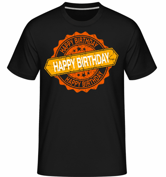 Happy Birthday Logo -  Shirtinator Men's T-Shirt - Black - Vorn