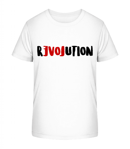 Revolution - Kid's Premium Bio T-Shirt - White - Front