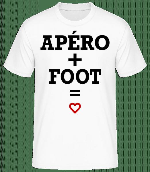 Apéro + Foot - T-shirt standard Homme - Blanc - Vorn