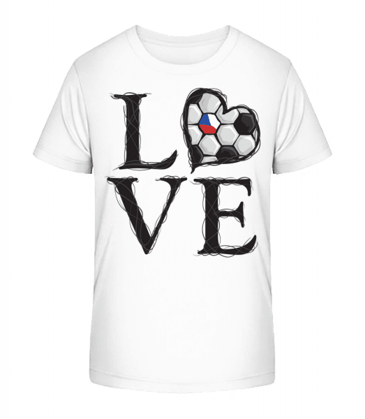 Football Love Czech Republic - Kid's Premium Bio T-Shirt - White - Vorn