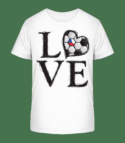 Football Love Czech Republic - Kid's Premium Bio T-Shirt - White - Vorn