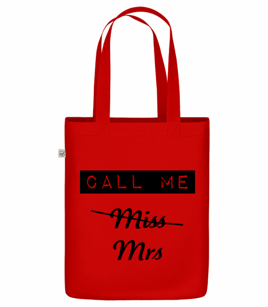 """Call Me Mrs - Organic """"Earth Positive"""" tote bag - Red - Vorn"""