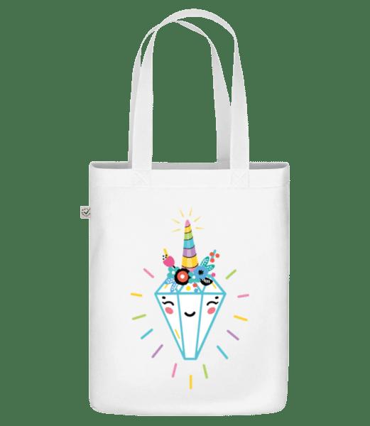 """šťastný Diamond - Organická taška """"Earth Positive"""" - Biela - Predné"""