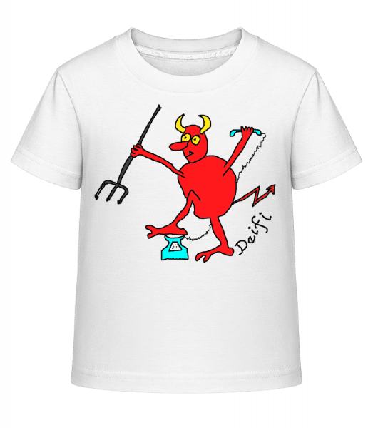 Deifl - Kinder Shirtinator T-Shirt - Weiß - Vorn