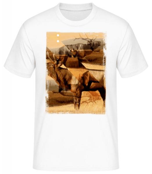 Deer Creative - Men's Basic T-Shirt - White - Front