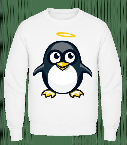 Angel Penguin - Classic Set-In Sweatshirt - White - Vorn