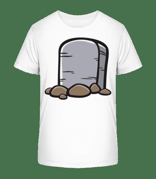Comic Gravestone - Detské Premium Bio tričko - Bílá - Napřed